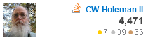 profile for CW Holeman II at Stack Overflow, Q&A for professional and enthusiast programmers