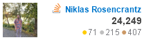 profile for Niklas Rosencrantz at Stack Overflow, Q&A for professional and enthusiast programmers