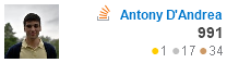 profile for Antony D'Andrea at Stack Overflow, Q&A for professional and enthusiast programmers