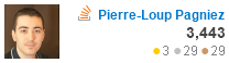 profile for Pierre-Loup Pagniez at Stack Overflow, Q&A for professional and enthusiast programmers