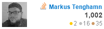 profile for Markus Tenghamn at Stack Overflow, Q&A for professional and enthusiast programmers