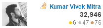 profile for Kumar Vivek Mitra at Stack Overflow, Q&A for professional and enthusiast programmers