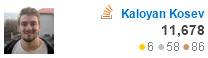 profile for Kaloyan Kosev at Stack Overflow, Q&A for professional and enthusiast programmers