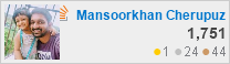 profile for Mansoorkhan Cherupuzha at Stack Overflow, Q&A for professional and enthusiast programmers