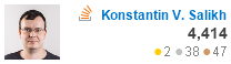 profile for Konstantin V. Salikhov at Stack Overflow, Q&A for professional and enthusiast programmers