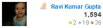 profile for Ravi Kumar Gupta at Stack Overflow, Q&A for professional and enthusiast programmers