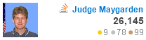 profile for Judge Maygarden at Stack Overflow, Q&A for professional and enthusiast programmers