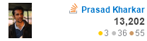 profile for Prasad Kharkar at Stack Overflow, Q&A for professional and enthusiast programmers