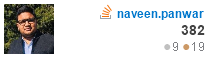 profile for naveen.panwar at Stack Overflow, Q&A for professional and enthusiast programmers