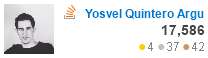 profile for Yosvel Quintero Arguelles at Stack Overflow, Q&A for professional and enthusiast programmers