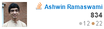 profile for Ashwin Ramaswami at Stack Overflow, Q&A for professional and enthusiast programmers