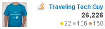 profile for Traveling Tech Guy at Stack Overflow, Q&A for professional and enthusiast programmers