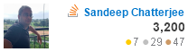 profile for Sandeep Chatterjee at Stack Overflow, Q&A for professional and enthusiast programmers