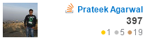 profile for Prateek Agarwal at Stack Overflow, Q&A for professional and enthusiast programmers