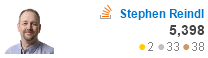 profile for Stephen Reindl at Stack Overflow, Q&A for professional and enthusiast programmers