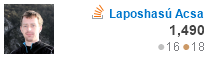 profile for Laposhasú Acsa at Stack Overflow, Q&A for professional and enthusiast programmers