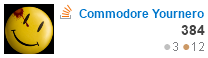 profile for Commodore Yournero at Stack Overflow, Q&A for professional and enthusiast programmers