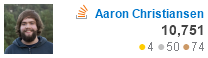 profile for Aaron Christiansen at Stack Overflow, Q&A for professional and enthusiast programmers