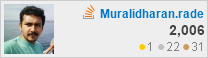 profile for Muralidharan.rade at Stack Overflow, Q&A for professional and enthusiast programmers