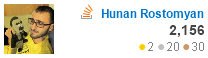 profile for Hunan Rostomyan at Stack Overflow, Q&A for professional and enthusiast programmers