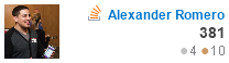 profile for Alexander Romero at Stack Overflow, Q&A for professional and enthusiast programmers