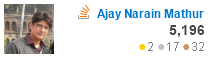 profile for Ajay Narain Mathur at Stack Overflow, Q&A for professional and enthusiast programmers