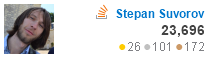profile for Stepan Suvorov at Stack Overflow, Q&A for professional and enthusiast programmers