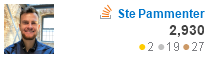 profile for Ste Pammenter at Stack Overflow, Q&A for professional and enthusiast programmers