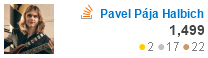 profile for Pavel Pája Halbich at Stack Overflow, Q&A for professional and enthusiast programmers