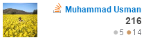 profile for Muhammad Usman at Stack Overflow, Q&A for professional and enthusiast programmers