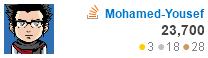 profile for Mohamed-Yousef at Stack Overflow, Q&A for professional and enthusiast programmers