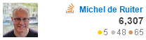profile for Michel de Ruiter at Stack Overflow, Q&A for professional and enthusiast programmers