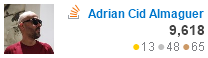 profile for Adrian Cid Almaguer at Stack Overflow, Q&A for professional and enthusiast programmers
