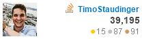 profile for TimoStaudinger at Stack Overflow, Q&A for professional and enthusiast programmers