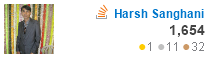 profile for Harsh Sanghani at Stack Overflow, Q&A for professional and enthusiast programmers