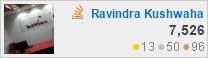 profile for Ravindra Kushwaha at Stack Overflow, Q&A for professional and enthusiast programmers
