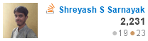 profile for Shreyash S Sarnayak at Stack Overflow, Q&A for professional and enthusiast programmers