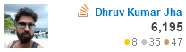 profile for Dhruv Kumar Jha at Stack Overflow, Q&A for professional and enthusiast programmers