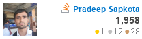 profile for Pradeep Sapkota at Stack Overflow, Q&A for professional and enthusiast programmers