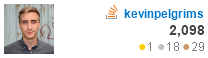 profile for kevinpelgrims at Stack Overflow, Q&A for professional and enthusiast programmers