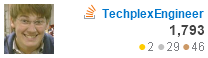 profile for TechplexEngineer at Stack Overflow, Q&A for professional and enthusiast programmers