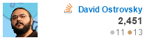 profile for David Ostrovsky at Stack Overflow, Q&A for professional and enthusiast programmers