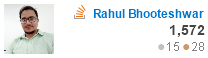profile for Rahul Bhooteshwar at Stack Overflow, Q&A for professional and enthusiast programmers