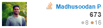 profile for Madhusoodan P at Stack Overflow, Q&A for professional and enthusiast programmers