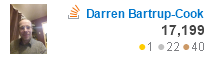 profile for Darren Bartrup-Cook at Stack Overflow, Q&A for professional and enthusiast programmers