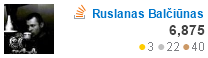 Stack Overflow profile for Ruslanas Balčiūnas at Stack Overflow, Q&A for professional and enthusiast programmers