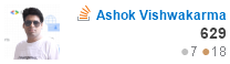profile for Ashok Vishwakarma at Stack Overflow, Q&A for professional and enthusiast programmers