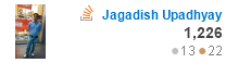 profile for Jagadish Upadhyay at Stack Overflow, Q&A for professional and enthusiast programmers