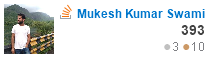 profile for Mukesh Kumar Swami at Stack Overflow, Q&A for professional and enthusiast programmers