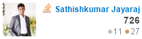 profile for Sathishkumar Jayaraj at Stack Overflow, Q&A for professional and enthusiast programmers